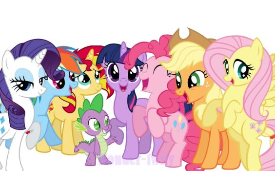 Mlp mane 7 group picture by Wonder-Twily