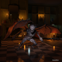A demon in the night by boggo2300