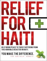 Relief for Haiti by glamorouscanvas