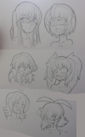 A Bunch of Yandere OC's by Zero-Q