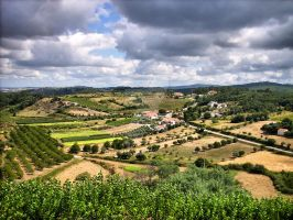 Countryside landscape of Porto de Mos, Portugal by vmribeiro