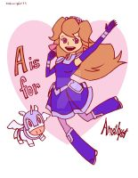 A is for Amethyst Princess of Gemworld by 4eknight11