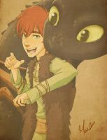 Brothers - Hiccup and Toothless by NightLiight