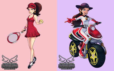 If Pauline was in Tennis and MarioKart (7 14 2018) by theskywaker
