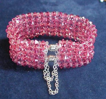 Diamond Cuff Crystal Bracelet by HurricaneDesigns