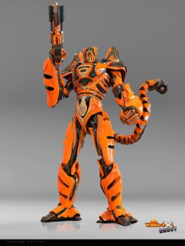 Tigger the robot by CarlosDattoliArt