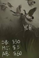 Black Fen Hunt YCH auction by Pimsri