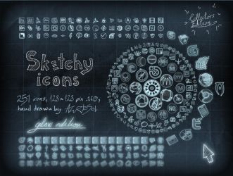 Sketchy Full Icons Glow ed. by AzureSol
