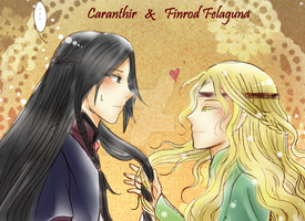 Caranthir and Finrod by Windrelyn