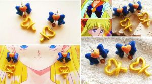 Handmade sailor Venus Inspired Earrings by mayumi-loves-sora