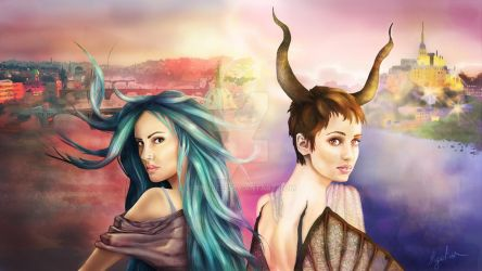 Karou and Madrigal by AnnJee