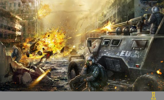 Tanks in the Streets by Concept-Art-House