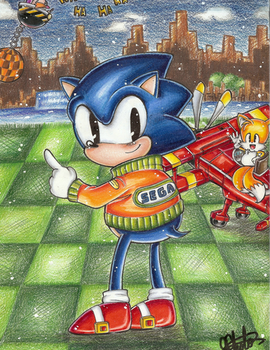Old school Sonic by sonicxamy09