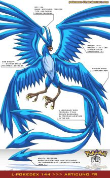 L'Pokedex 144 - Articuno FR by Pokemon-FR