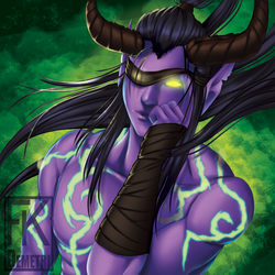 WoW Baddies Buttons - Illidan by FKDemetri