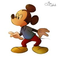 Mickey Mouse sketch 2 by MarioOscarGabriele