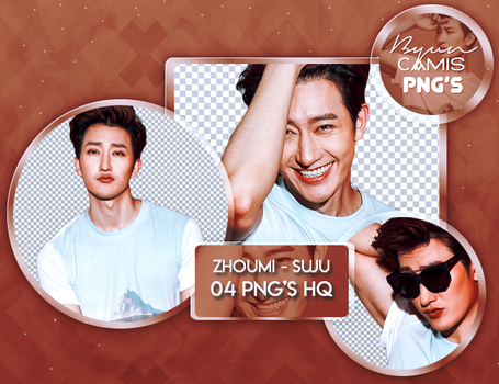 [PNG PACK #135] ZHOUMI (SUPER JUNIOR-M) by ByunCamis
