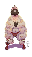 Zangief is Angry by TimVithor