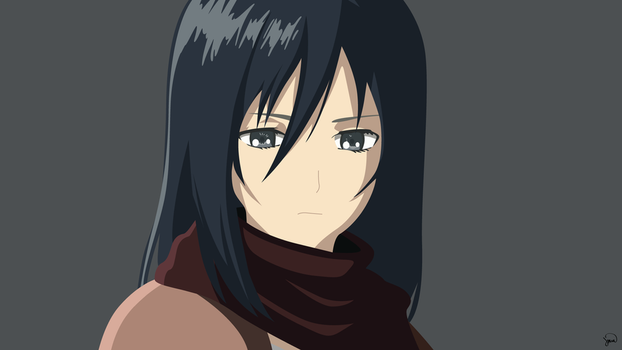 Mikasa Ackerman {Shingeki no Kyojin} Vector by greenmapple17