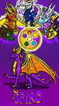 Spyro and The Dragon Elders of  Planet Scepter. by Spy91