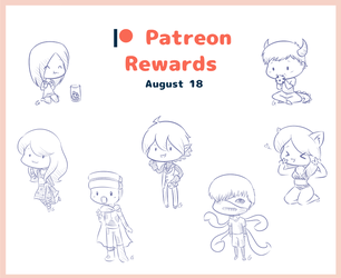 : Patreon : August Sketches by GimmeHug