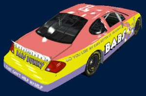 Babs Bunny Nascar back by Framwinkle