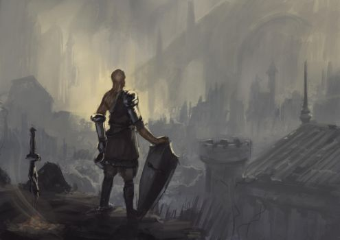 Dark Souls fanart (speed painting) by Clooms