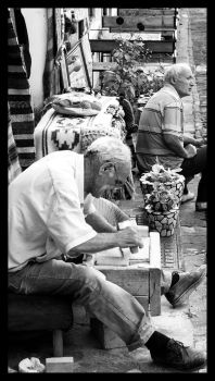 Man at work by Albanos