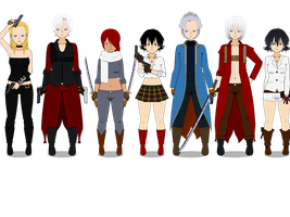 Devil May Cry Characters by TheLastGallant