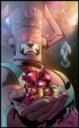 Galactus and Silver Surfer by Furlani