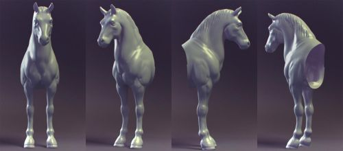 quick shape - Horse WIP by JackZhang