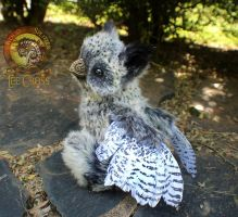Sold, Poseable Marbled Baby Griffin! by Wood-Splitter-Lee