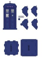 Police box paper model - page2 by gfoyle