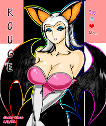 +Rouge the Bat in Human Form Colored+ by JassyCoCo