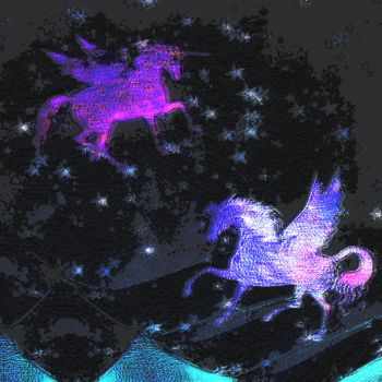 Galactic Unicorns by Chlodulfa