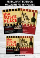 Restaurant Magazine Flyer ad template by Hotpindesigns