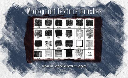 Monoprint texture brushes by chain