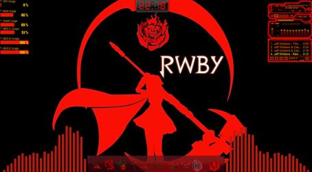 rainmeter RWBY Ruby Red Version by AzillaV
