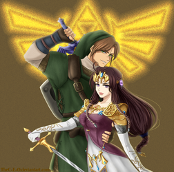 COMMISSION: APH Link and Zelda AusHun Cosplay by The-C-E-O
