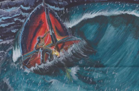A Fisherman in the Tempest by SecretAgentFifi