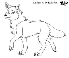 Wolf-outline by RukiFox