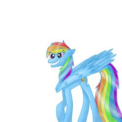 First Paint On Paint Tool Sai!! (Rainbow Dash) by mlpchrysalis1233