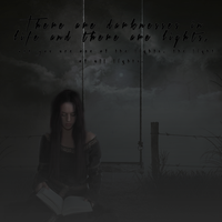 There Are Darknesses In Life And There Are Lights by xxmissyxx101