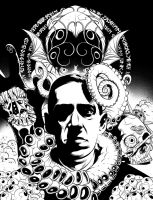 H. P. Lovecraft Colouring and Activity Book by handtoeye