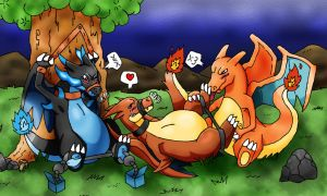 Charizard Brothers Tickling Torture by Onodera-kun