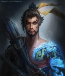 Hanzo - Overwatch by Lesvaria