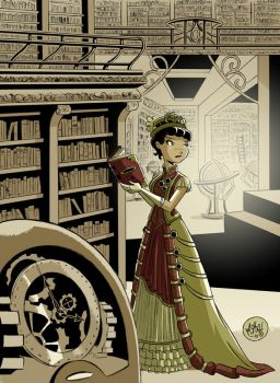 Steampunk Librarian by mikemaihack