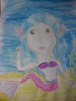 water colored mermaid by yiska13