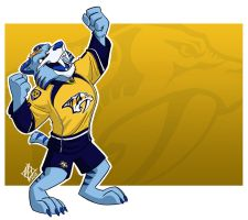 Nashville Predators: Gnash by jmh3k