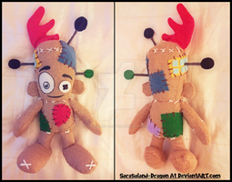 Commission: Small Voodoo Vince Plushie by Sarasaland-Dragon
